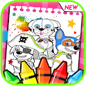 Paw Pals - Puppy Pups Patrol Coloring Book icon