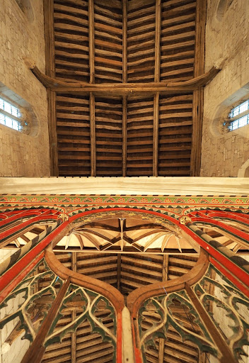 High vaulted timber ceiling