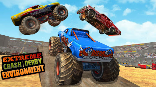Télécharger Gratuit Fearless Monster Truck Derby Crash Demolition Game apk mod screenshots 1