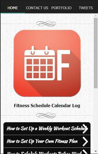 健身計劃日曆日誌