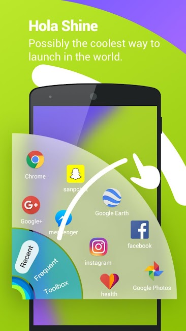 #6. Hola Launcher- Theme,Wallpaper (Android)