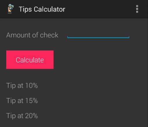 Tips Calculator