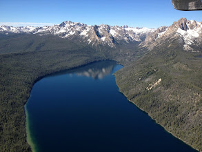 Photo: Redfish Lake, So Named Because Of The Once Abudant Sockey Salmon Run Traveling 900 Miles to Return In The Fall