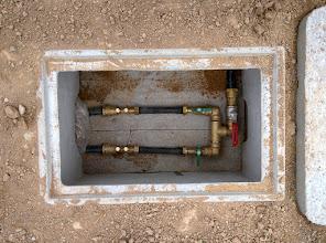 Photo: put voor de watermeters