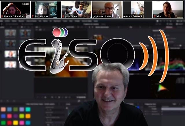 Luis Serrano y algunos profesores de la EISO durante la gala virtual.