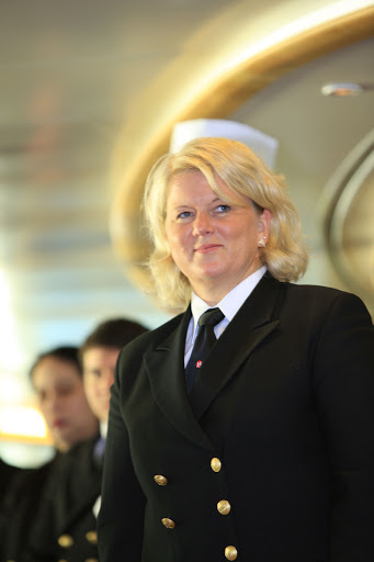 A crew member of Hurtigruten's expedition ship Fram.