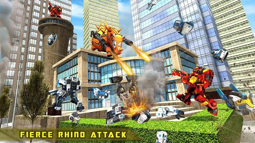Rhino Robot Car transforming games u2013 City battle filehippodl screenshot 13