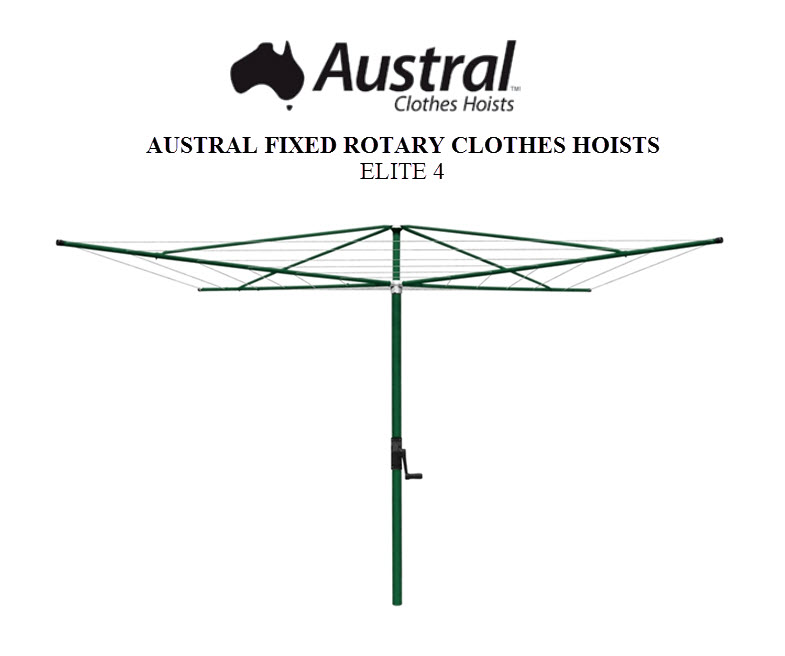 Austral Elite 4 Rotary Clothes Hoist ELITE