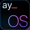 #Hex Plugin - ayOS Retina Dark for Samsung OneUI icon