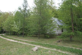 Photo: Hergotova chata je ukrytá v lese medzi peknými smrekovcami. Odtiaľ smerujeme do Sv. Jura (spolu s Vladom z Trnavy), kde je kontrola v Neštichu v krčme