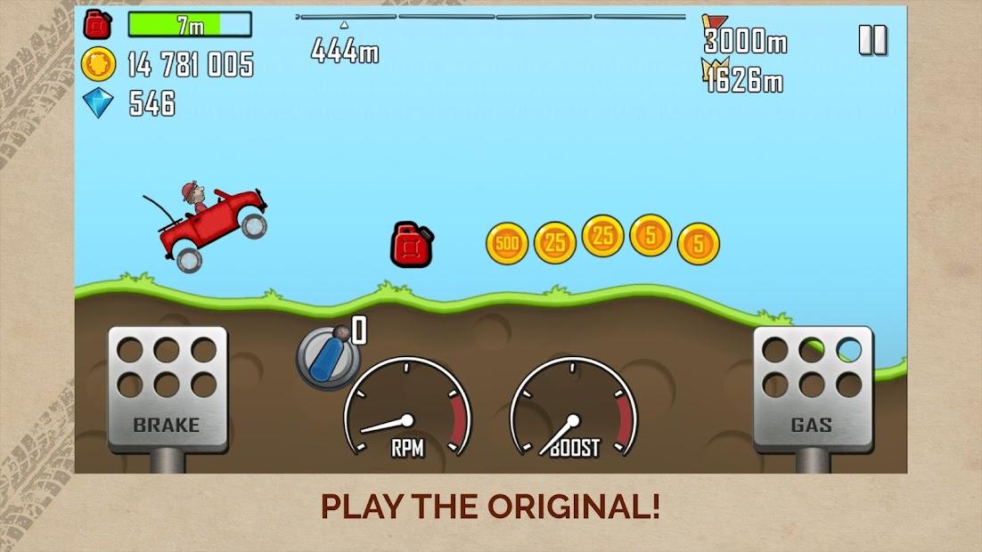 Hill Climb Racing Android App Screenshot
