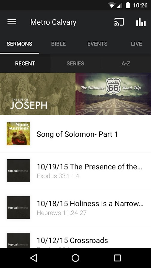 Metro Calvary App- screenshot