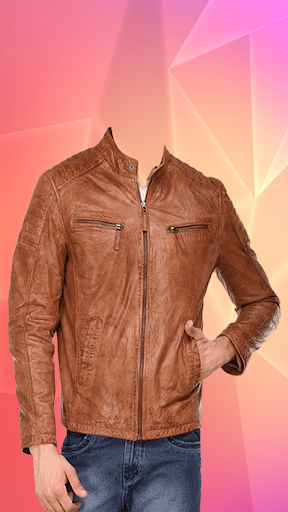 Man Leather Jacket Photo Suit screenshot 6