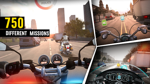 MotorBike: Traffic & Drag Racing I New Race Game apkpoly screenshots 6