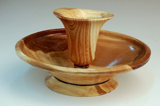 Photo: Jerry Mauch - Tulip Bowl - maple, apple (bowl), black locust