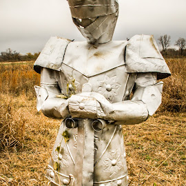 by Jennifer  Loper  - Artistic Objects Signs ( cloudy, armor, field )