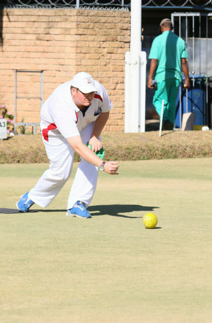 Modderfontein's Greg Burns has overcome massive odds to compete in the SA men's championship.