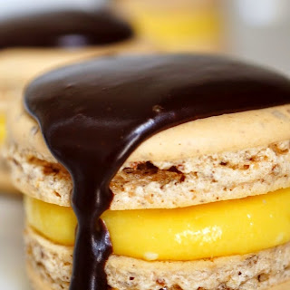 Boston Cream Pie Macarons.