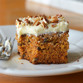 Classic Carrot Cake with Cream Cheese Frosting.