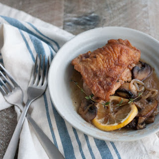 Skillet Chicken with Mushrooms, Shallots and White Wine