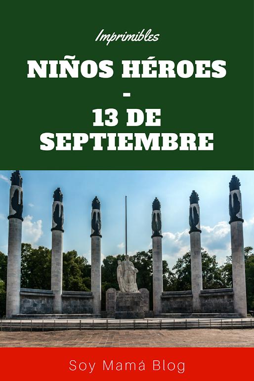 Imprimibles Niños Héroes - 13 de septiembre