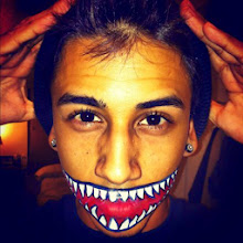Photo: Painted on scary mouth by Tess, Los Angeles, Ca. Call to Book Tess at 888-750-7024