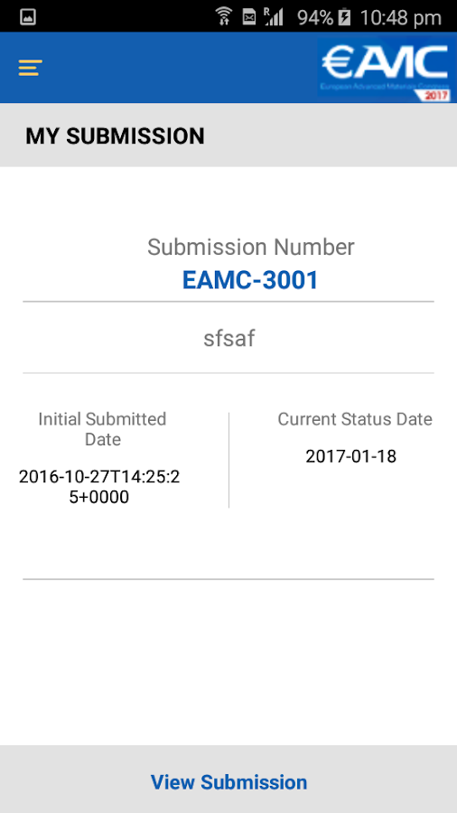 EAMC 2017- screenshot