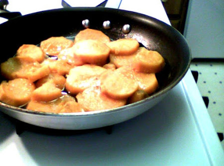 Top of Stove Fried Candied Sweet Potatoes Recipe