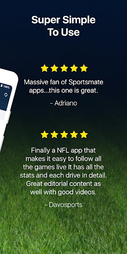 Football Live: Live NFL scores, stats and news  App Report