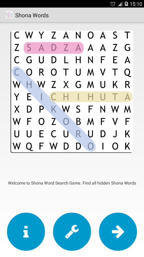 Shona Word Search- screenshot