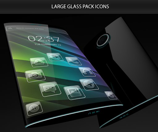 Glass theme & glass icon pack + amoled wallpapers 5.0.8 screenshots 2