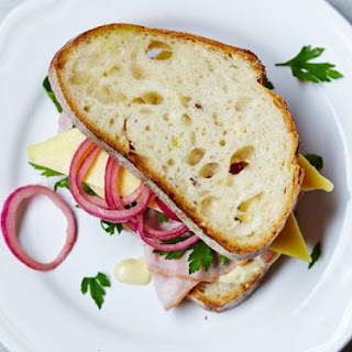 Ham, Cheese & Homemade Pickle Bloomer Recipe