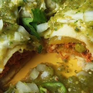 Chile Relleno Chicken Enchiladas.