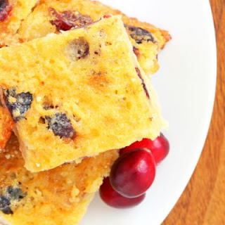 Diabetic Lemon Cranberry Bars