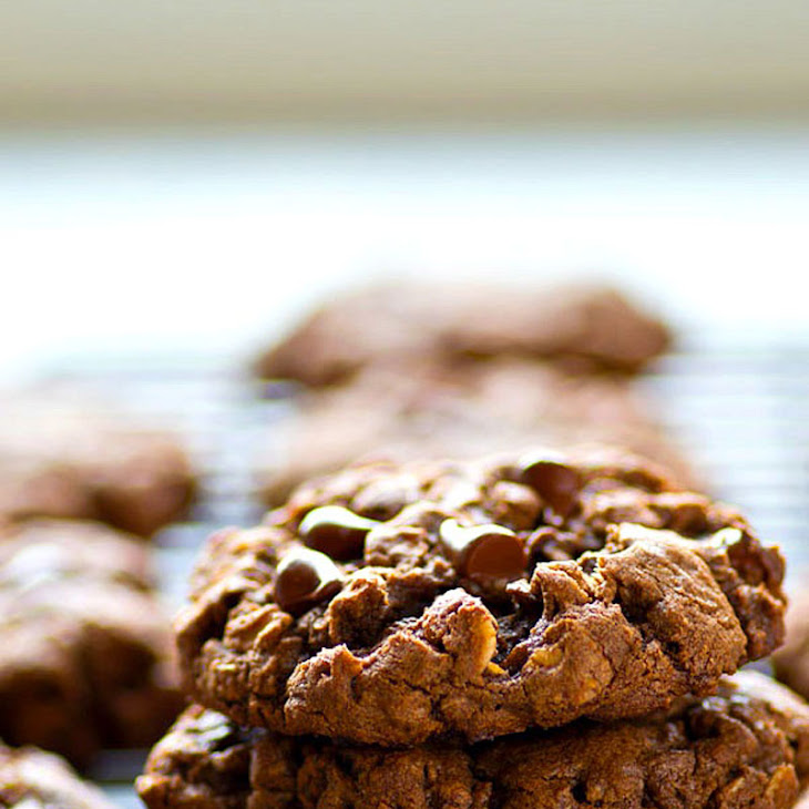 Soft and Chewy Double Chocolate Oatmeal Cookies