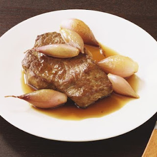 Rump Steak with Vinegar Shallots