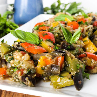 Eggplant and Bell Pepper Caponata [Vegan]