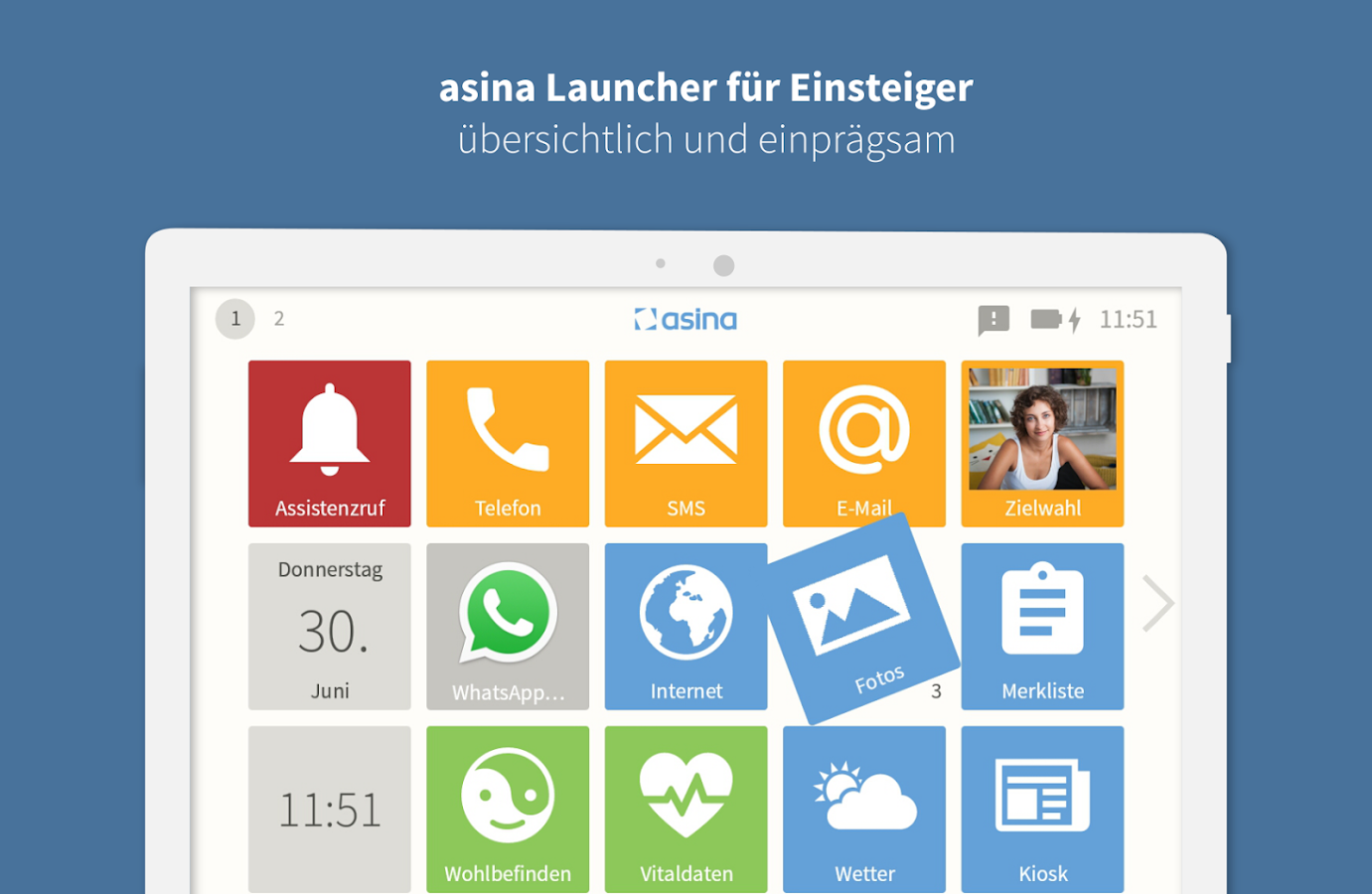 asina Launcher für Senioren- screenshot