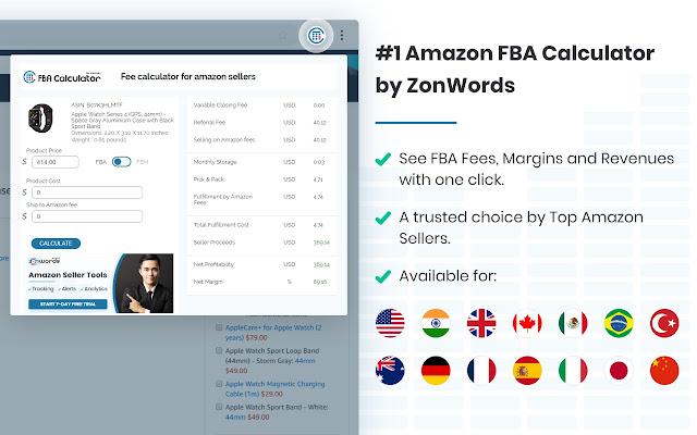 Fee calculator for Amazon sellers