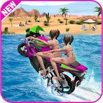 Water Surfer Racing In Moto Icon