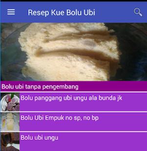 Resep Kue Bolu Ubi - náhled