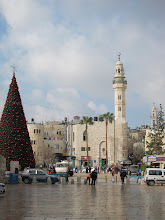 Photo: Modern Bethlehem: Christmas trees and minarets