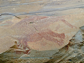 Photo: enormous petroglyph of fishing elephant
