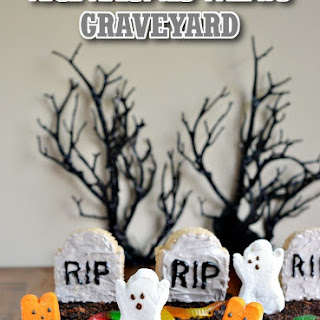 Rice Krispies Treats & PEEPS Graveyard Recipe for Halloween
