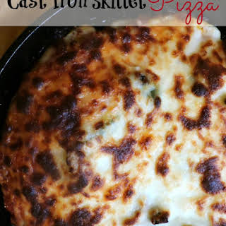 Cast Iron Skillet Pizza.