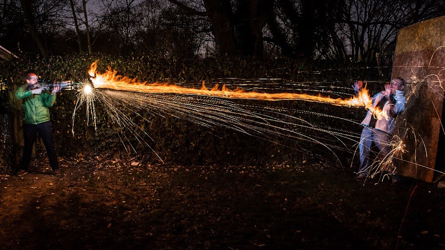 Crossbow fire! by Adam Snyder - Abstract Light Painting