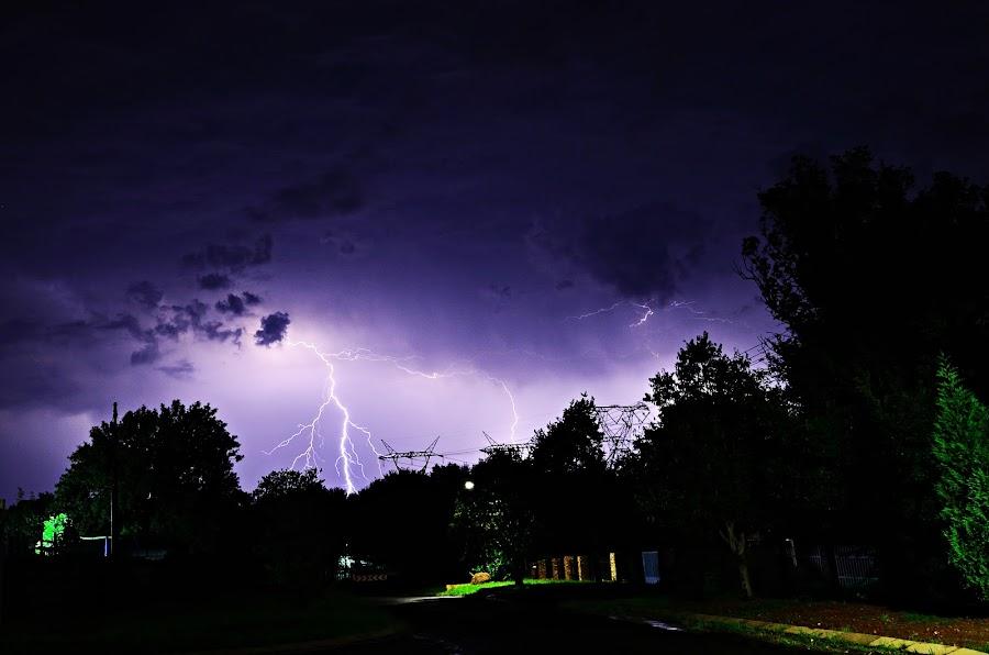 Deja Vu Strike by Cobus van Zyl - Landscapes Weather ( lightning, storm, thunderstorm, thunder, storms, night photography )