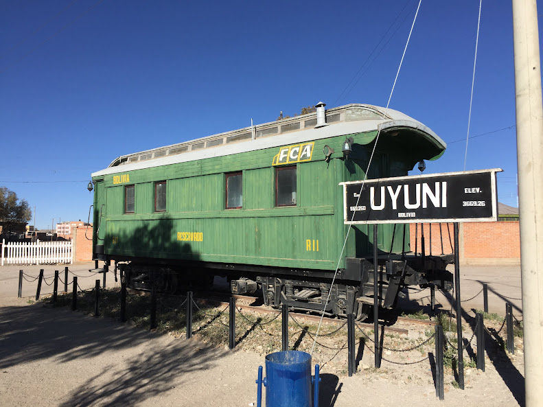 ウユニ駅 旧客車