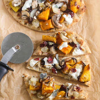 Butternut Squash Caramelized Onion Burrata Flatbread Pizza