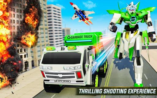 Flying Garbage Truck Robot Transform: Robot Games modavailable screenshots 5